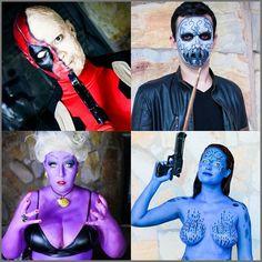 Meu quarteto fantastico do fim de semana   Evento: @heroesfestival  Fotografia: @rayaraeckhardt e Taciane Gomes  Mais fotos em http://ift.tt/1rOjc6w :) #maquiagem #makeup #maquiadora #makeupartist #fotd #cosplay #cosplaybrasil #cosplaybr #maquiagemcosplay #cosplaymakeup #heroesfestivalbh #heroesfestival #deadpool #Mystique #mistica #xmen #ursula #disney #disneyside #disneyvillains #deatheater #harrypotter