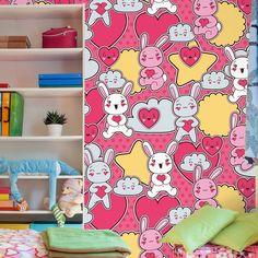 Papel de parede adesivo coelhos - StickDecor   Decoração Criativa