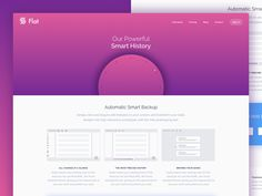 Smart History Landing Page by Mathias Adam - Dribbble