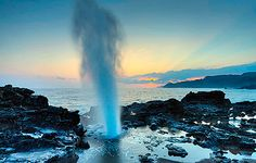 Spouting Horn Blkowhole  is one of the most photographed places on Kauai.