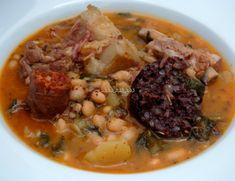 Cocido Montañés Chorizo, Carne Asada, Pot Roast, Healthy, Ethnic Recipes, Food, Bacon, Pork, Recipes
