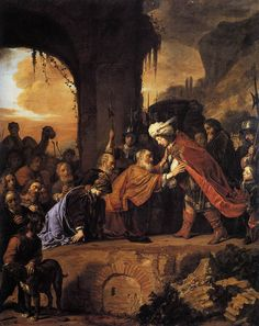 Joseph Receives His Father and Brothers in Egypt // 1655 // Salomon de Bray // Private collection