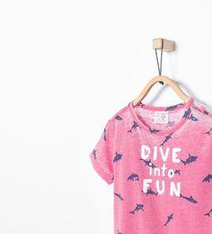 ZARA - NEW THIS WEEK - Shark print T-shirt