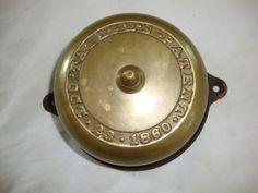 antique-cast-brass-Doorbell-door-bell-1860-taylor-missing-turn-knob