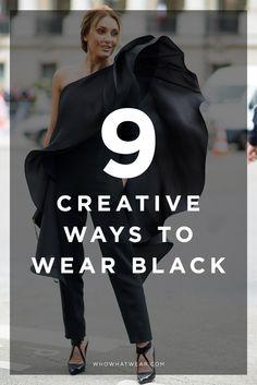 9 creative ways to wear all-black