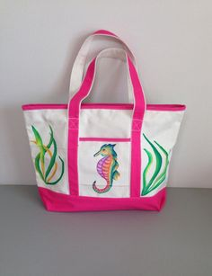 Seahorse Tote Bag on Etsy, $44.99