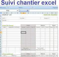 Suivi chantier excel Civil Construction, Construction Documents, Microsoft Excel, Autocad, Civilization, 1, House Design, How To Plan, Architecture