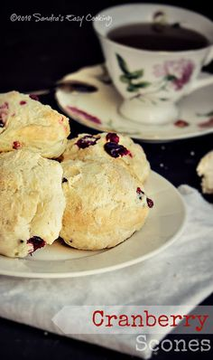 Simple and delicious Cranberry Scones. Prefect for snack or breakfast