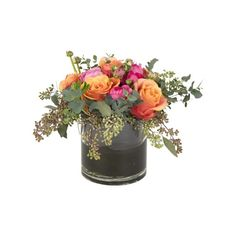 Jayson Home Orange Roses and Ranunculus (585 CNY) ❤ liked on Polyvore featuring home, home decor, floral decor, flowers, filler, plants, decor, orange home decor, flower stem and flower home decor