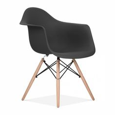 Black Charles Eames Style DAW Chair | Side & Cafe Chairs | Cult UK