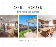 Open House Sunday 9 16 1 3pm Check