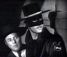 """""""Zorro"""" TV Show on The Disney Channel (1957 - 1959) --- Starring Guy Williams as the titular Zorro, aka Don Diego De La Vega. This was a favorite of mine growing up, because The Disney Channel used to air it at 4am as an alternative to infomercials. Really wish they'd release it on DVD!"""