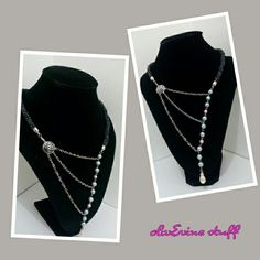 Three pairs chain Necklace