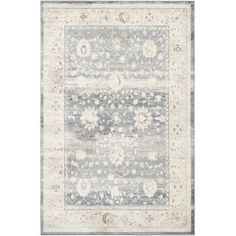 Lark Manor Valmer Dark Blue / Cream Area Rug Rug Size: