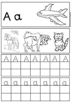 Preschool Education, Preschool Themes, Preschool Worksheets, Teaching Kids, Preschool Crafts, Alphabet Tracing, Greek Alphabet, Letter Activities, Writing Activities