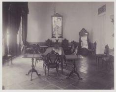 De leeszaal van sociëteit Concordia te Soerabaja 1910