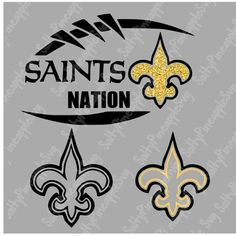 Saints Shirts, Sports Wreaths, The One Show, New Orleans Saints, Vinyl Crafts, Car Decals, Svg Files For Cricut, Gold Glitter, Silhouette Cameo