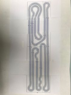 This is the start of my new track, this will be a 4 lane track that sits on a x table, there still is a little tweaking that will be done before it gets built. Slot Car Race Track, Ho Slot Cars, Slot Car Racing, Slot Car Tracks, Race Tracks, Kart Shop, Spice Logo, Kart Parts, Model Trains