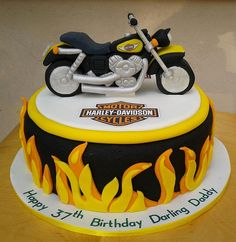 Harley Davidson Cake The cake is truly only about something if you