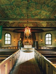 Seglora Church was relocated to Stockholm from western Sweden.