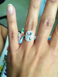 My Henri Daussi engagement ring from Smyth Jewelers.