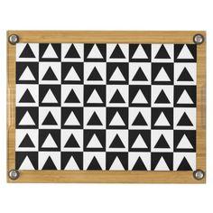 BLACK AND WHITE TRIANGLE PATTERN Cheese Board $89.95 #kitchenaccessories #Cheeseboard #zazzle http://zazzle.com/black_and_white_triangle_pattern_cheese_board_picnictimecheeseboard-256292494855361035?rf=238202880278685137