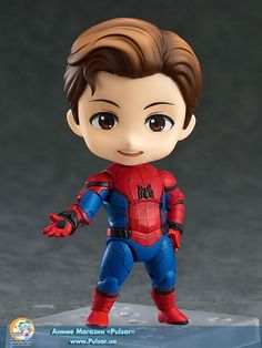 """Your friendly neighborhood Spider-Man is coming back to the Nendoroids! From the movie """"Spider-Man: Homecoming"""" comes a Nendoroid of your friendly neighborhood Spider-Man! He is dressed up in his new costume which has been carefully detailed w. Chibi Marvel, Marvel Heroes, Marvel Avengers, Marvel Comics, Anime Figures, Action Figures, Avengers Wallpaper, Cute Cartoon Wallpapers, Cute Dolls"""