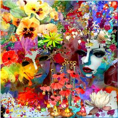 Im in love with all the colors Im In Love, Face Art, All The Colors, Collage Art, Inspire, Social Media, Colour, Random, Awesome