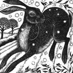 """""""Leaping Hare"""" by Rosamond Fowler"""
