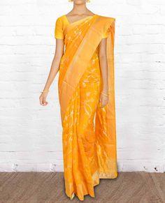 Chanderi Silk Sarees CSVT018 - Pure Silk Sarees