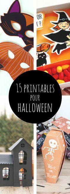 Boîtes à bonbons, masques, guirlandes : 15 printables pour Halloween à télécharger et à imprimer !