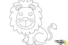 Simple Drawings For Kids How To Draw Lion How To Draw In 2019