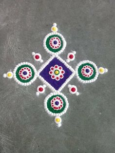 Rangoli I luv Simple Rangoli Designs Images, Rangoli Designs Flower, Small Rangoli Design, Colorful Rangoli Designs, Rangoli Designs Diwali, Diwali Rangoli, Flower Rangoli, Beautiful Rangoli Designs, Kolam Designs