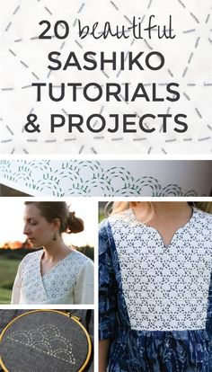 A list of the most helpful sashiko embroidery tutorials, including videos and how-to make patterns. Plus, sashiko projects and free patterns to inspire you. Embroidery Patterns Free, Hand Embroidery Stitches, Hand Embroidery Designs, Flower Embroidery, Embroidered Flowers, Stitching Patterns, Shashiko Embroidery, Boro Stitching, String Art Patterns