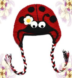 hat glow worm , winter hat, hat with animal shape