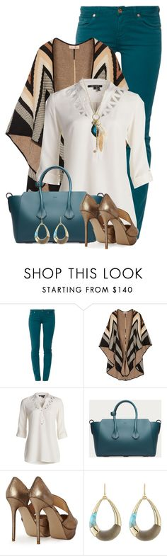 Jeans & Heels by colierollers on Polyvore featuring NIC+ZOE, Mara Hoffman, 7 For All Mankind, French Connection, Bally, Wet Seal and Alexis Bittar
