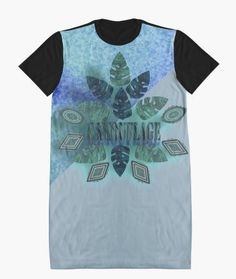 DARK LEAF CAMOUFLAGE. Graphic T-Shirt Dresses Shades Of Blue, Shirt Dress, T Shirt, Camouflage, Cloths, My Design, Blues, Shops, Collections
