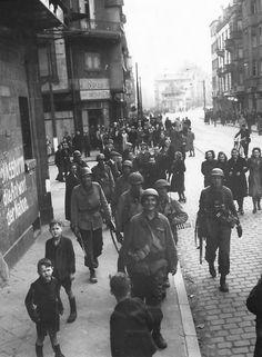 Civilians Watch US Army 3rd Army Troops Move thru Frankfurt 1945   World War Photos