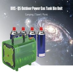 BRS Outdoor Picnic Camping Travel Power Gas Tank Unit Bin Portable Outdoor Stoves Gas Tank Bin Set for Hiking BBQ Fishing etc