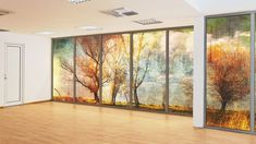 Printed Glass Partition