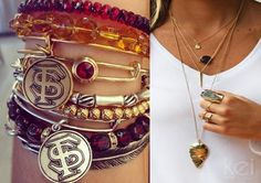FSU Jewelry Style on A Splendid Spectacle. #FSU #Seminoles #Noles http://www.splendidspectacle.com/2014/08/splendid-seminole-style.html