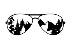 Fishing Discover Mountain Aviators Vinyl Decal Car Decal Mountain Decal Mountain Sticker Sunglasses Decal Adventure Decal Decals For Yeti Tree Decal Cricut Craft Room, Cricut Vinyl, Vinyl Decals, Wall Stickers, Decals For Cars, Bumper Stickers, Vinyl Crafts, Vinyl Projects, 3d Cnc