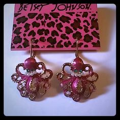 BETSEY JOHNSON RED OCTOPUS EARRINGS Brand new Betsey Johnson red octopus earrings. Super cute!! Betsey Johnson Jewelry Earrings