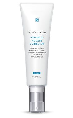 SkinCeuticals Advanced Pigment Corrector fades dark spots and skin discoloration without hydroquinone, and helps keep new dark spots from forming. Brown Spots On Skin, Dark Spots, Skin Spots, Brown Skin, Dark Spot Corrector, Pigmentation, Scar Treatment, Chemical Peel, Dull Skin
