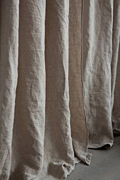 Discover our linen curtains with tab tops for easy hanging. Order ready made curtain panels now or request a custom size in your desired color. Sheer Linen Curtains, Tab Curtains, Velvet Drapes, Industrial House, Modern Industrial, Hotel Rosa, Theoule Sur Mer, Curtain Length, Custom Drapes