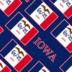 Smartphone Case - State Flag of Iowa - Patchwork Blue Diagonal