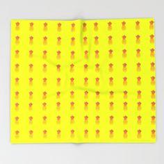 "Throw Blanket / 51"" x 60"" Blanket LaSoffittaDiSte (lasoffittadiste) pineapple by LaSoffittaDiSte"