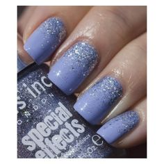 Esmalte azul com glitter