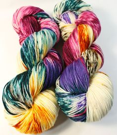 hand dyed sock yarn sw sock 8020 superwash merino nylon 400 yards queen - Coloring Book Yarns