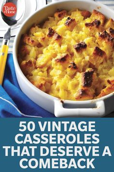 50 Vintage Casseroles that Deserve a Comeback Ww Recipes, Home Recipes, Holiday Recipes, Great Recipes, Cooking Recipes, Favorite Recipes, Easy Casserole Recipes, Sweet Potato Casserole, Sage Kitchen